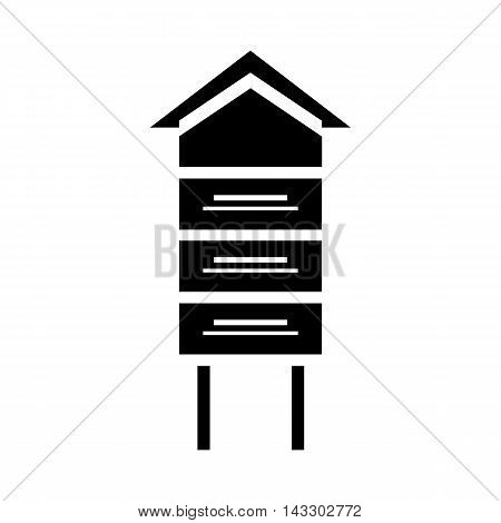 Traditional beehive icon in simple style on a white background