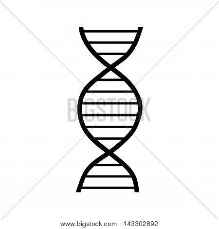 DNA strand icon in simple style on a white background