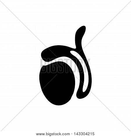 Ovary icon in simple style on a white background