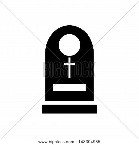 Tombstone icon in simple style on a white background