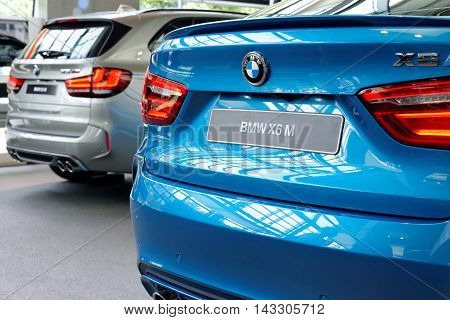 MUNICH GERMANY - 4 AUGUST 2015: BMW M3 presented at BMW World showroom in Munich Germany.