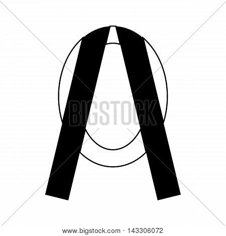 Memorial wreath icon in simple style on a white background