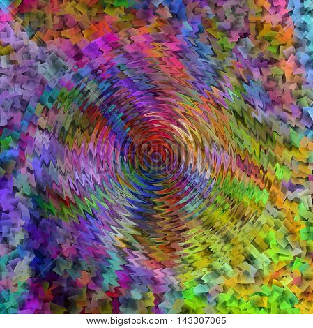 Abstract coloring background of the abstract gradient with visual illusion,cubism and wave effect