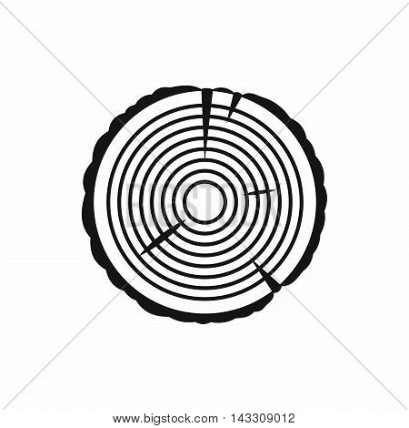 Tree ring icon in simple style on a white background