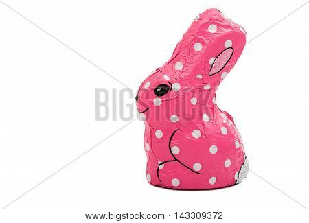 Easter chocolate bunny isolated on white background