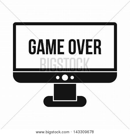 Game over icon in simple style on a white background