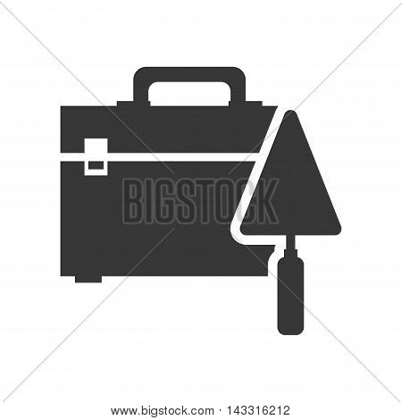spatula tool kit box repair construction silhouette icon. Flat and Isolated design. Vector illustration