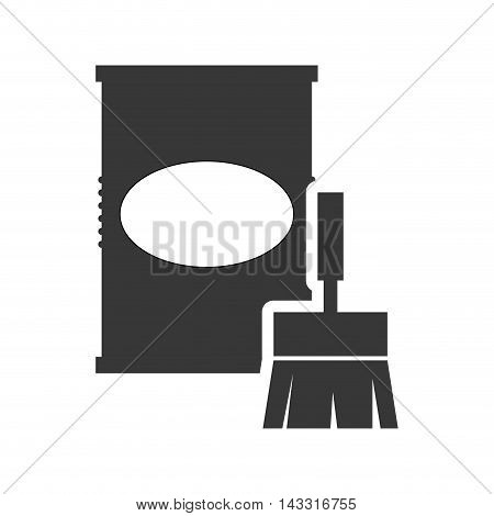 paint can tool repair construction silhouette icon. Flat and Isolated design. Vector illustration