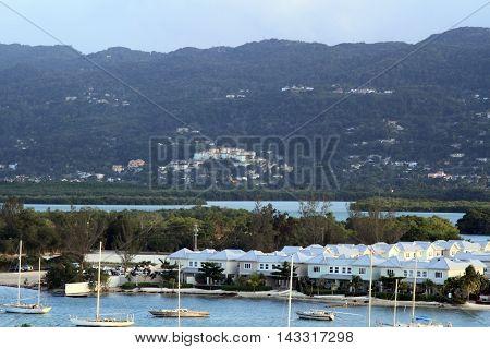 Tropical beach in Montego Bay, Jamaica. Caribbean sea.