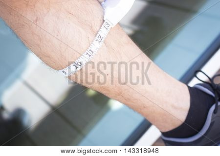 Measuring Body With Tape