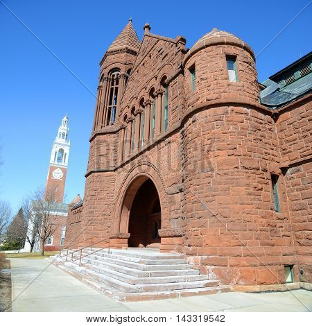 Billings Memorial Library in University of Vermont (UVM), Burlington, Vermont, USA