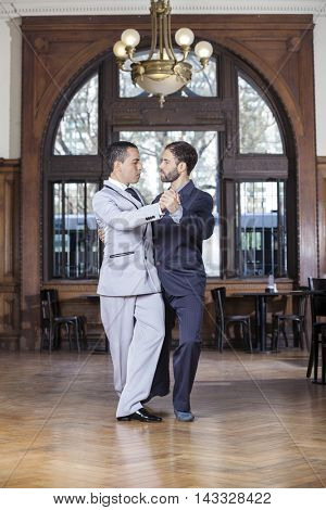 Tango Partners Performing While Looking At Each Other