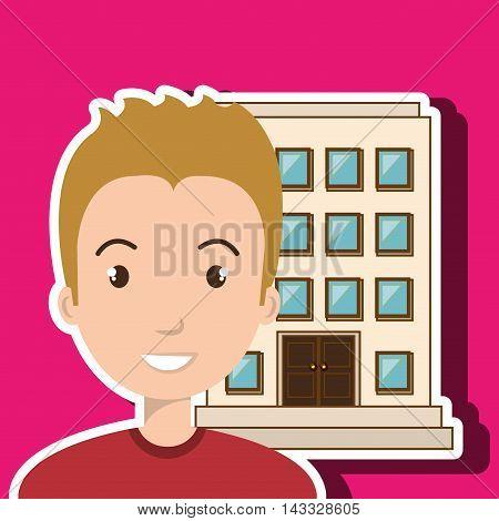 woman client hotel icon vector illustration design