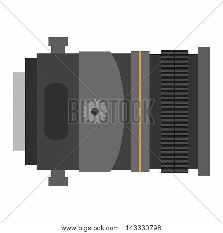 Camera photo optic lens on white background vector.