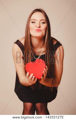 Cute Girl With Heart