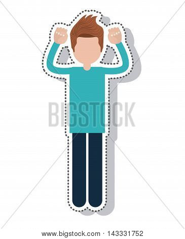 person avatar protest isolated icon vector illustration design