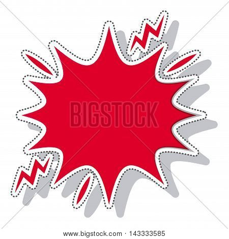 splash comic isolated icon vector illustration design