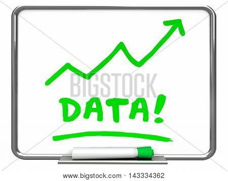 Data Numbers Information Erase Board Arrow 3d Illustration