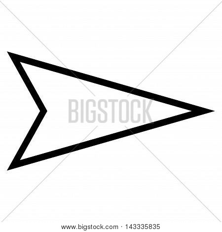 Pointer Right vector icon. Style is thin line icon symbol, black color, white background.