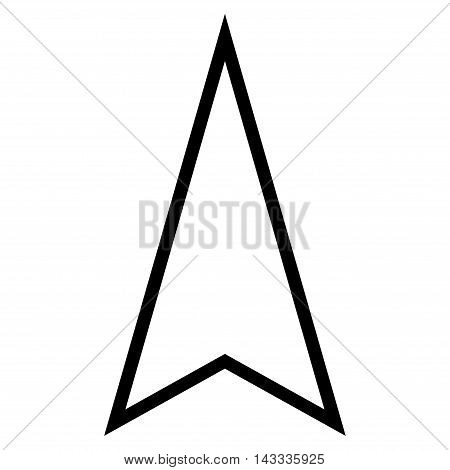 Pointer Up vector icon. Style is thin line icon symbol, black color, white background.