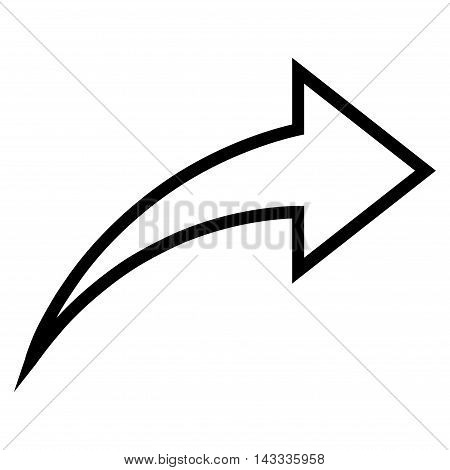 Redo vector icon. Style is thin line icon symbol, black color, white background.