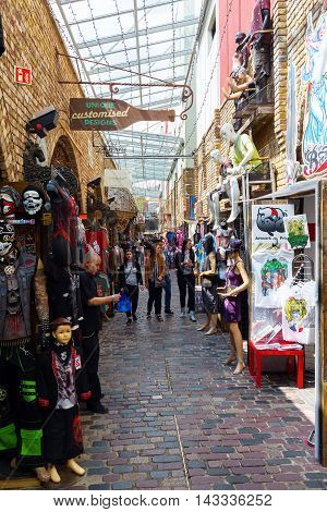 Stores At Camden Market, London, Uk