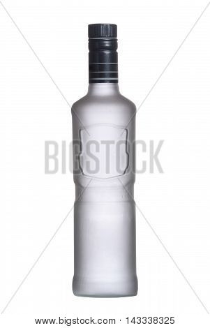 Bottle Iced Of Vodka Isolated