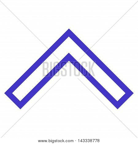 Arrowhead Up vector icon. Style is contour icon symbol, violet color, white background.