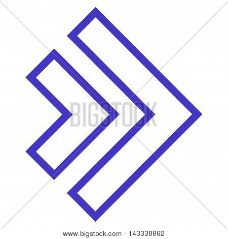 Direction Right vector icon. Style is thin line icon symbol, violet color, white background.
