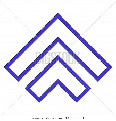 Direction Up vector icon. Style is thin line icon symbol, violet color, white background.