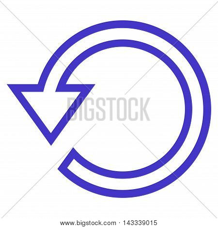 Rotate vector icon. Style is contour icon symbol, violet color, white background.