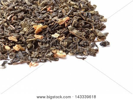 Closeup Of Chinese Silver Needle Hair Down White Tea Of Premium Luxury Quality. Texture Background M