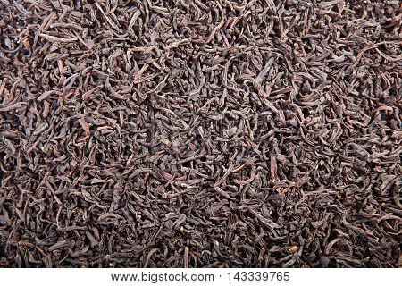 Black Tea Loose Dried Tea Leaves, Isolated On The White Backgrou