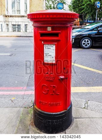 Red Mail Box In London (hdr)
