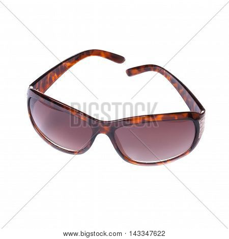 Modern Brown Sunglasses Isolated On White Background