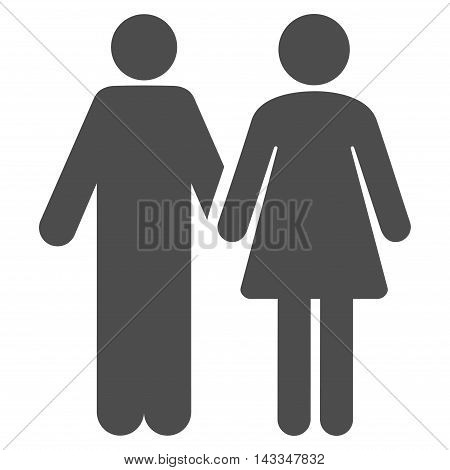 Married Couple icon. Vector style is flat iconic symbol with rounded angles, gray color, white background.