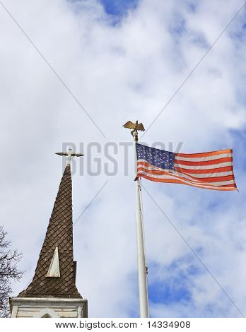 Church State Steeple Flag