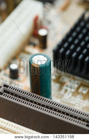 Electronic Circuit Of Motherboard, Close-up