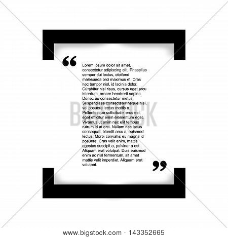 Quote bubble Typographical Poster Template. Black and white style.