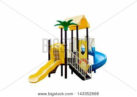 colorful playground full set for children on isolate