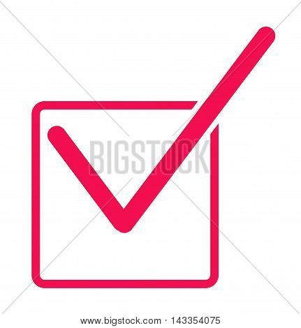 Check mark icon, Red check box with check mark