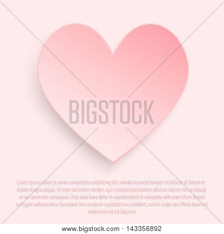 White paper heart on a gray background. vector