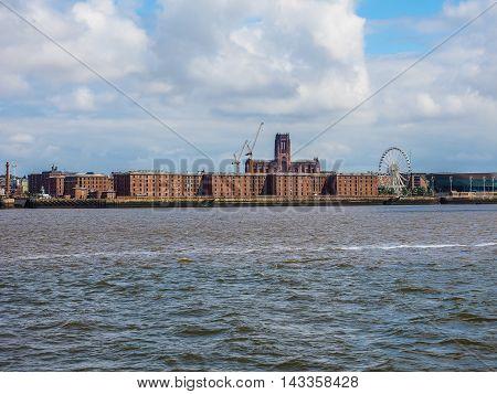 Albert Dock In Liverpool Hdr
