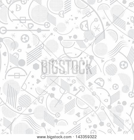 Soccer abstract light pattern. European Championship soccer background. Vector illustration. Abstract football lines and shapes grey and white geometric pattern.