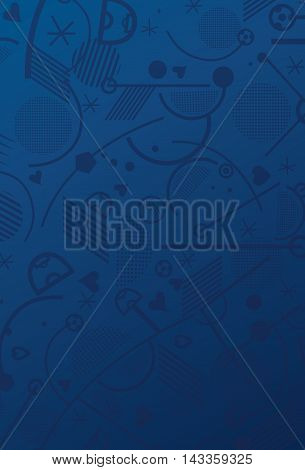 Soccer abstract blue pattern. European Championship soccer blue background. Vector illustration for Art, Print, Web design.