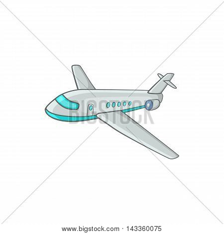 Passenger airliner icon in cartoon style on a white background