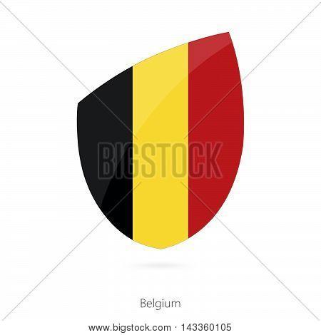Flag Of Belgium. Belgium Rugby Flag.