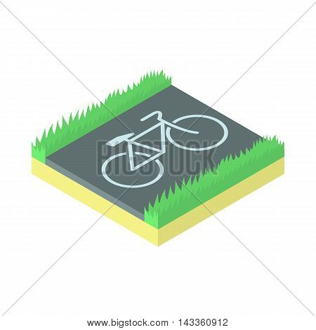 Bike parking icon in cartoon style on a white background
