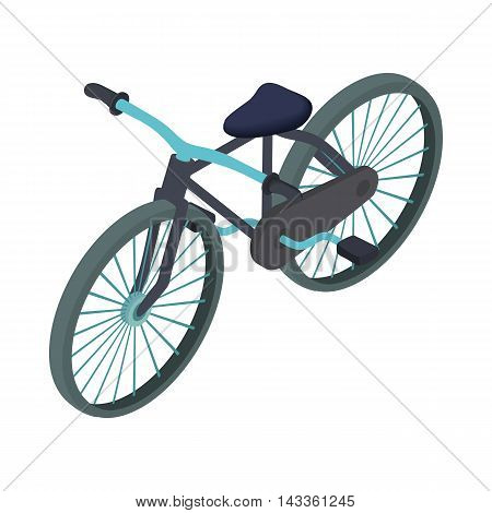 Black bike icon in cartoon style on a white background