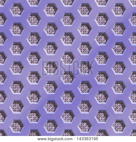 Wire mesh fabric seamless generated hires texture or background, 3D illustration